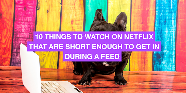 10 things to watch on Netflix that are short enough to get in during a feed