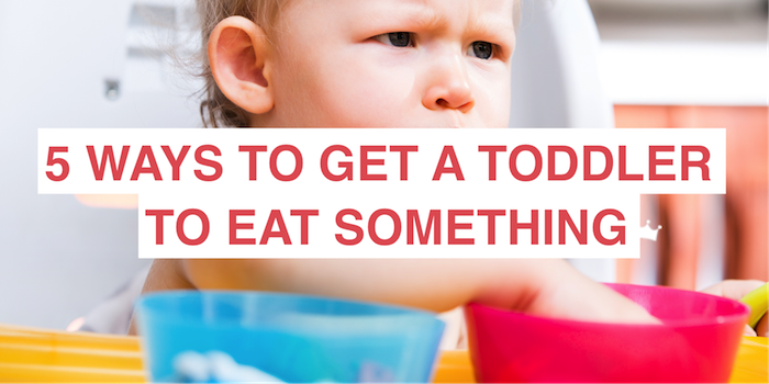 5 ways to get a toddler who won't eat anything to eat something