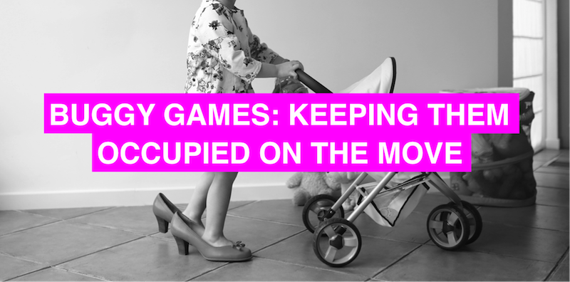 Buggy games: tricks for keeping them occupied on the move