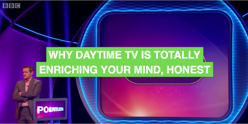 A love affair with Pointless: Why daytime TV is totally enriching your mind, honest